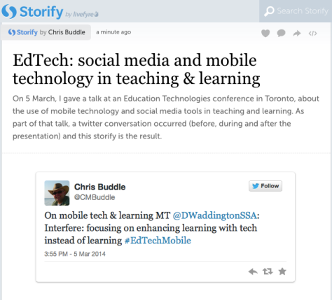 Storify on EdTechMobile