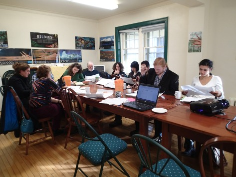 Launch meeting of the Sustainability Learning Community (Photo credit: A. Winegardner)