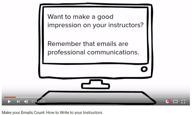 Student Emails: A Creative Video Guide to  Email Etiquette